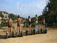 Mirando los paisajes de Arenys desde el segway