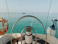 Paseo en velero a la playa de Es Carbó