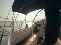 Recorriendo S'estanyol en velero
