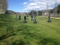 Two young people climbed a segway