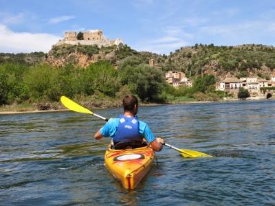 Noleggio canoa in acque calme dell'Ebro 1 giorno