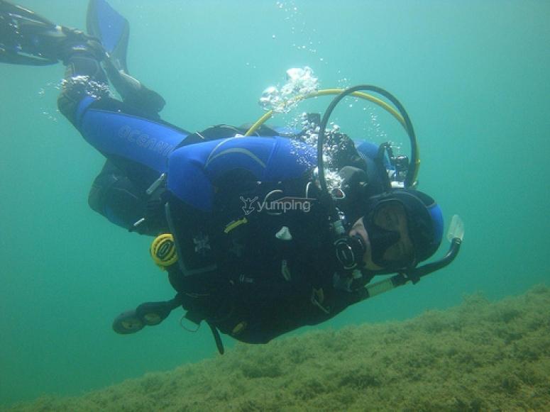 buceador open water