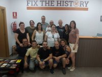 Family members in escape room in Tarragona