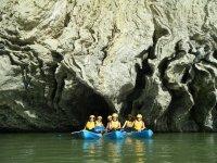Bajo los cortados del Aragón en Canoa