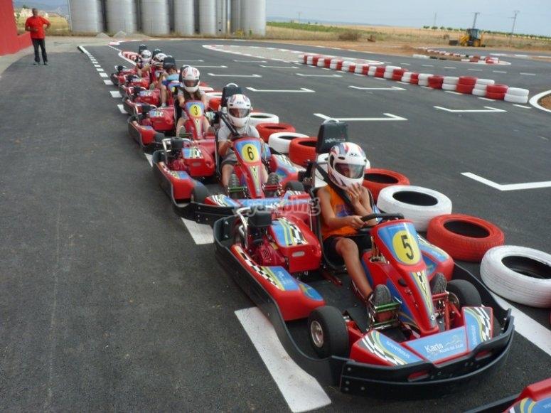 Karting en Alcala del Jucar