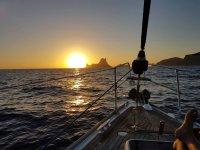 Il sole tramonta a Es Vedra