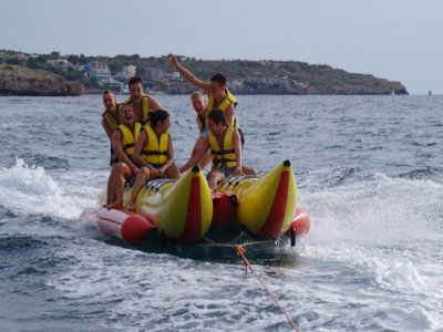 15 minutes banana boat in Arenal