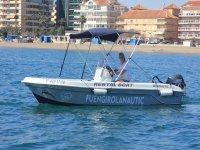 Navegando en barco por Fuengirola