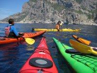 伊维萨独木舟划独木舟徒步在伊比沙岛的Ibizan