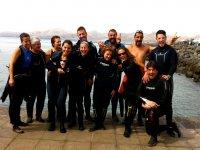 Felices tras la inmersion en Canarias