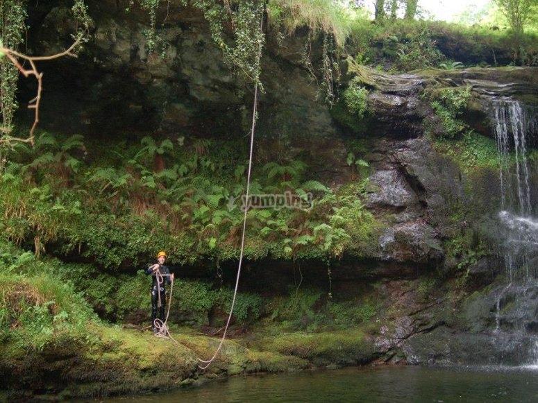 Sosteniendo la cuerda