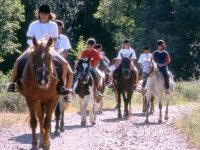 Group of students on horseback