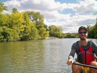 on the canoe