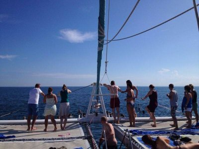 Catamaran tripadults with meal, Valencia 3 h