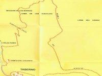Mapa de la ruta de senderismo