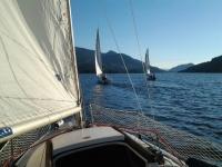 Sailing boat in the Burguillo