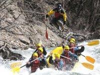 Un descenso en rafting
