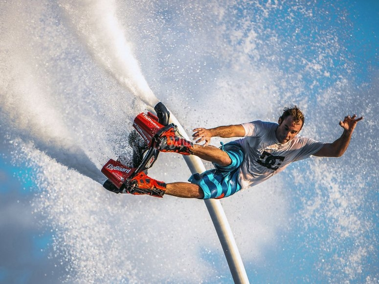 Dolphin jump flyboarding