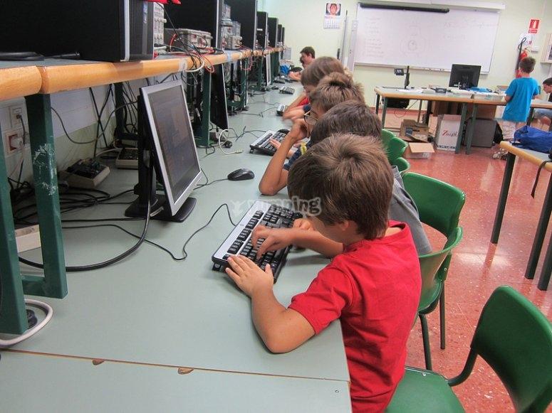 Con los ordenadores
