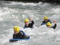 En los rápidos de un rio