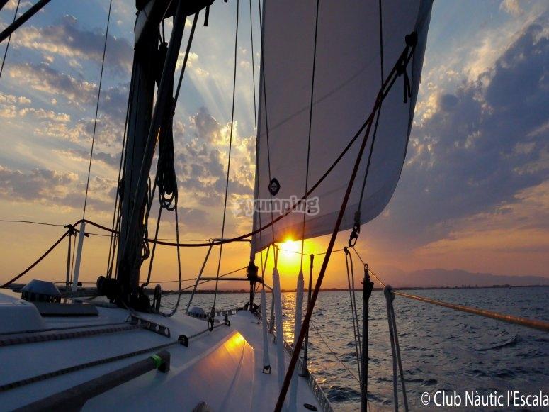 Sailing boat inside