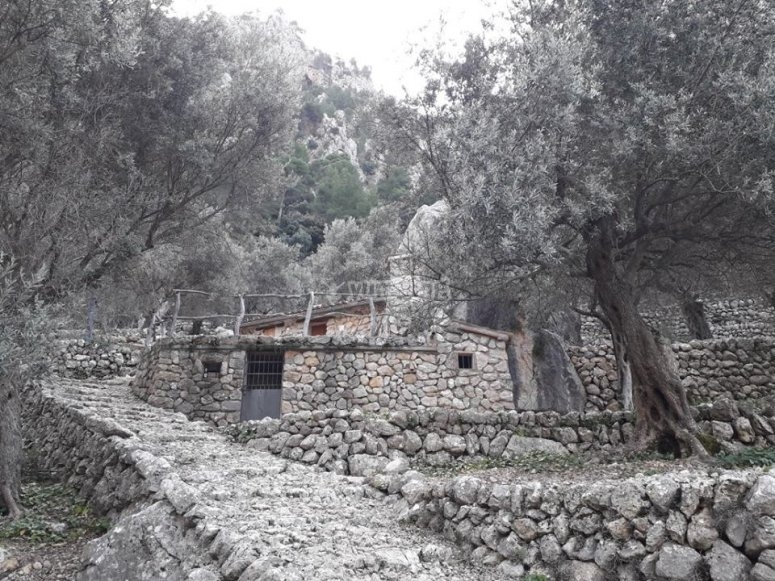 Old constructions next to the Biniaraix canyon