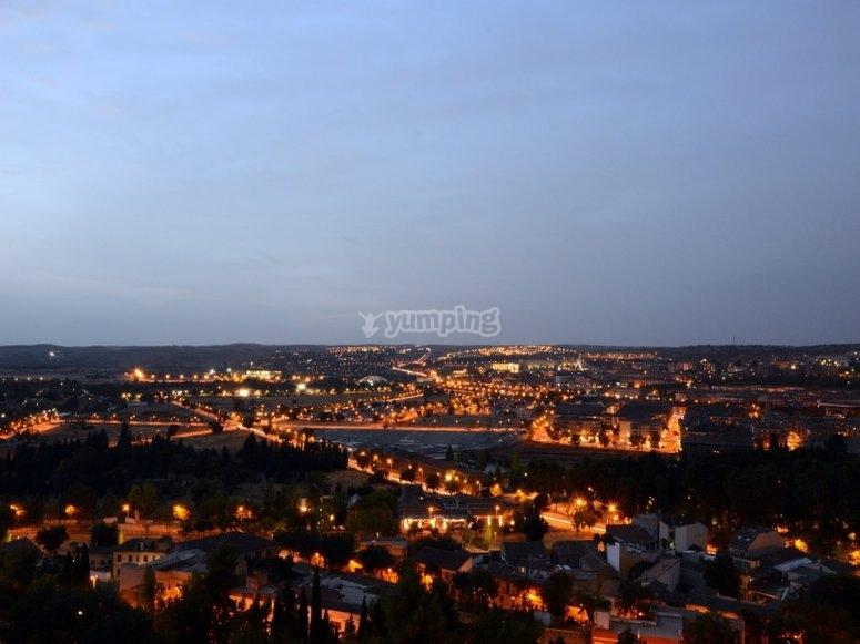 Anocheciendo en Toledo