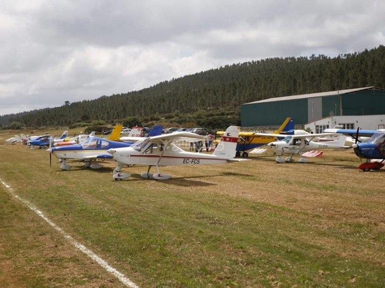 Flota de aeronaves en Fervenza