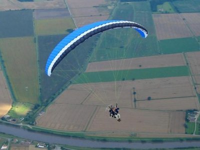 20min flight baptism in a paramotor, Mazaricos