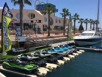 Jet skis in the Marine of Alicante