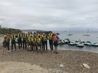 Group prepared for the jet skis