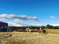 Clase de equitación en El Escorial
