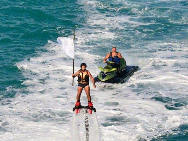 Flyboard en la costa mediterránea
