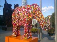 elefante de flores