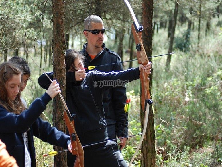 Sesion de tiro con arco
