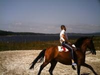 Bautismo a caballo en la zona de Mazaricos