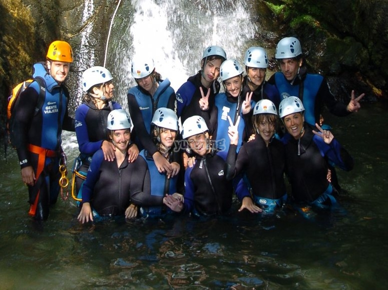 Canyoning in these camps