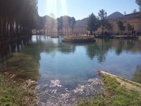 Lago de pesca en Valderrebollo