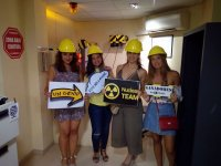 Friends in escape room in Tarragona