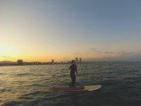 paddle atardecer