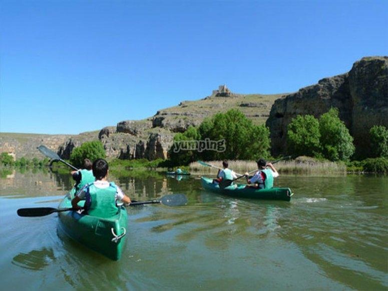 Kayaks in Hoces del Río Duratón