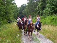 Pleasant horse riding