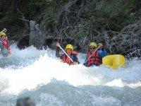 Divertimento pomeridiano in canoa