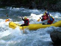 Having fun in a canoe