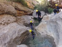 Enjoying an afternoon of canyoning