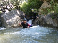 Discovering ponds with our canyoning route
