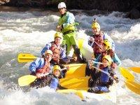 Rafting con los amigos