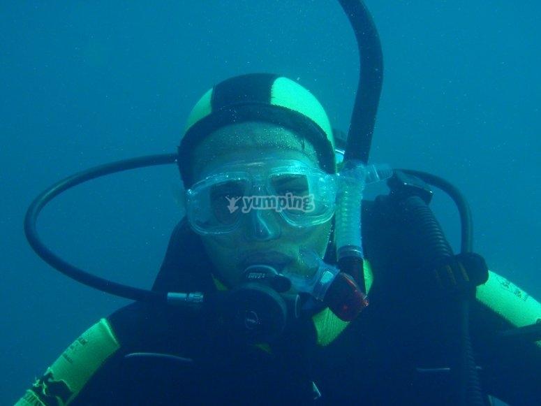 使用所有潜水设备