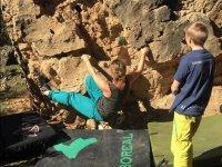 Aprendiendo escalada al aire libre