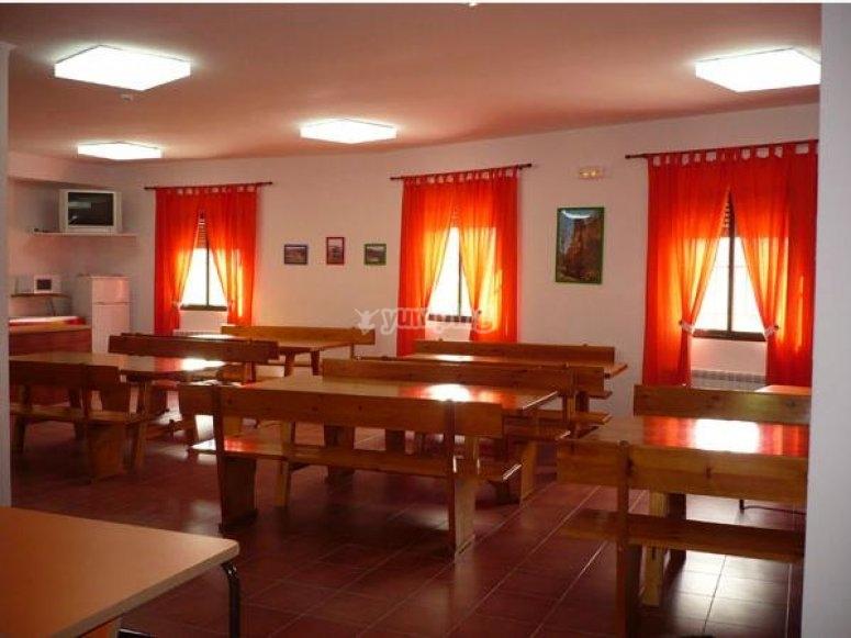 sala da pranzo ostello
